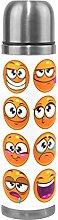 COOSUN Orange Cartoon Round Characters Emoji