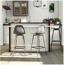 Copley Plastic Kitchen Dining Room Barstool Gray