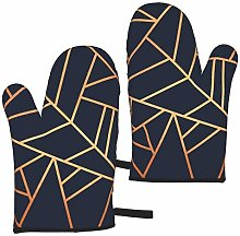 Copper and Midnight Navy Oven Gloves,Heat