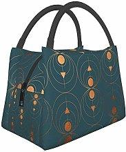 Copper Art Deco On Emerald Lunch Bag Cooler Bag