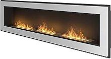 Copper Bio Ethanol Fireplace 1800mm x 490mm White