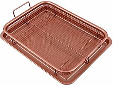 Copper Crisper Tray, RAINBEAN Cookie Sheet with