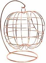 Copper Effect Hanging Wire Fruit Basket Holder