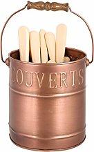 Copper Finish Kitchen Cutlery Storage Caddy