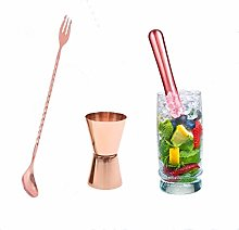 Copper Finish Stainless Steel Cocktail Muddler,