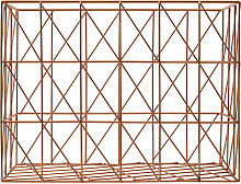 Copper Finishing Rectangular Wire Basket Storage