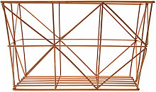 Copper Finishing Tapered Wire Basket Storage