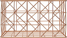 Copper Finishing ZigZag Wire Basket Storage