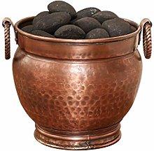Copper Fireside Coal Scuttle Bucket Hearth