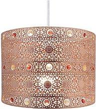 Copper Gem Moroccan Style Chandelier Ceiling Light