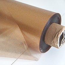 Copper Gold Clear Glitter PVC Vinyl Wipe Clean
