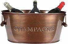 Copper Ice Bucket Champagne Wine Bottle Drink