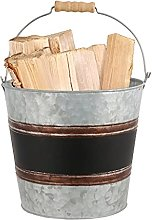 Copper Kindling Storage Scuttle Container Firewood