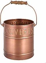 Copper Kitchen Cutlery Storage Caddy Handled