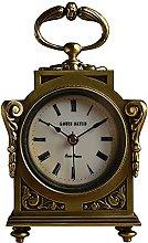 Copper Mantle Clock Retro Desktop Clock Low Noise