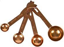 Copper Measuring Spoons - Set of 4 Scoop Set