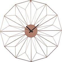 Copper Metal Wire Clock D80