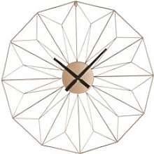 Copper Metal Wire Clock D80