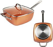 Copper Non-Stick Deep Sided Square Pan Kit with