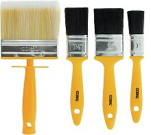 Coral Essentials Paint Brushes with Block - 4