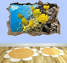 Coral Fishes Sea Aquarium Underwater Wall Art