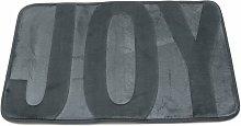 Coral fleece memory rug 40x60 cm Gray bathroom and