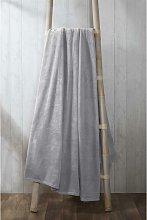 Coral Fleece Silver 200x240cm Blanket Throwover