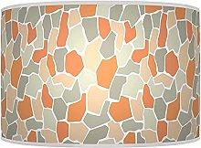 Coral Peach Grey Pebble Lampshade - Handmade Shade