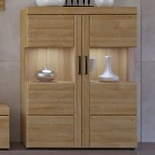 Corco LED Low Wide 2 Doors Display Cabinet In