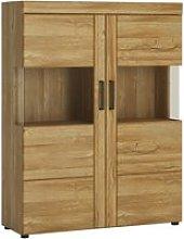 Corco Low Wide 2 Doors Display Cabinet In Grandson