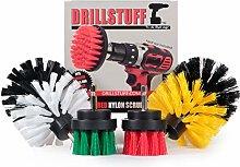 Cordless Drill Powered Scrub Brush Kit - Kitchen