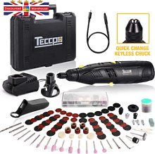 Cordless Rotary Tool, Teccpo 12v With Quick-change