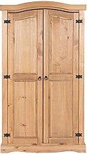 Core Products Two Door Wardrobe, pine, Antique Wax