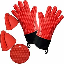 Corepine Silicone Oven Gloves with Double Cotton