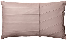 Coria Cushion - / Leather - 50 x 30 cm by AYTM Pink