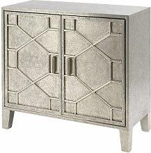 Corina Hand Embossed Metal Storage Cabinet In