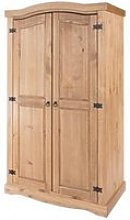 Corina Wardrobe In Antique Wax Finish With Two