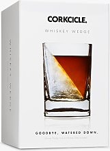Corkcicle Whiskey Wedge Glass & Silicone Ice Cube,