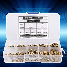 Corn Rivets Set, Small Brass Lightweight 650pcs