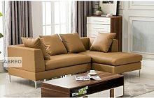 Corner 3 Seater Sofa Metro Lane Upholstery: Camel