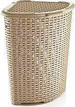 Corner Bin Plastic Rattan Laundry Basket Clothes