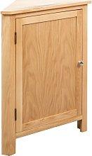 Corner Cabinet 59x36x80 cm Solid Oak Wood - Brown