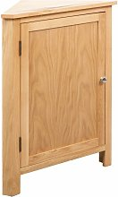 Corner Cabinet 59x36x80 cm Solid Oak Wood VD12955