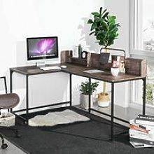 Corner Computer Desk , L-Shape Gaming Desks Laptop