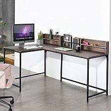 Corner Computer Desk, Laptop PC Desk for Gaming