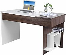 Corner Computer Desk, Wood Writing Table Office