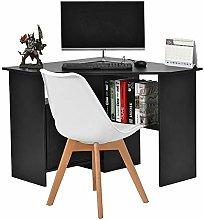 Corner Computer Desk Wooden Workstation Desk with