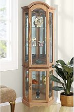 Corner Curio Cabinet with Lighting ClassicLiving