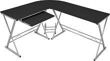 Corner desk computer desk - black