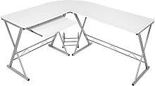 Corner desk computer desk - white